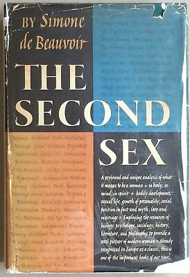 The Second Sex by Simone De Beauvoir Hard Bound First US Edition in Dust Jacket