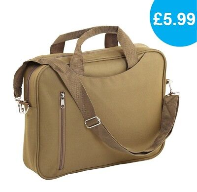 "14"" Laptop Bag, Khaki Colour, Shoulder Bag, Unisex"