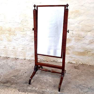 Regency Cheval Mahogany Inlaid Mirror C1820 (Antique C19th Georgian)