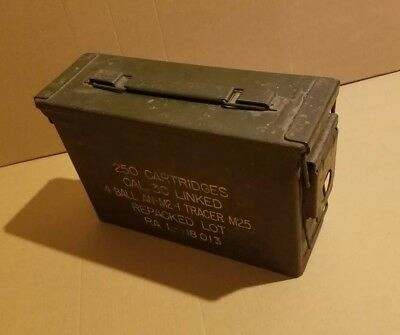 30 Cal Ammo Can Army Military Metal Storage Box Great Condition