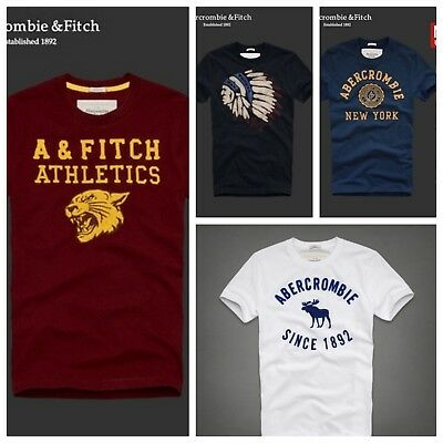 987a847e ABERCROMBIE & FITCH Men T shirt AF Muscle Fit by Hollister - EUR 16 ...
