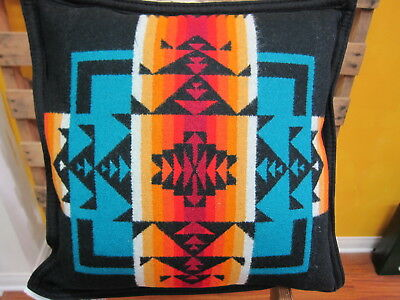 Pendleton Chief Joseph Collection Pillow Black Made in USA