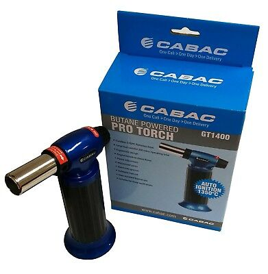 Cabac Auto Ignition Butane Pro Torch Gt1400 - Up To 1350 Degrees Celsius
