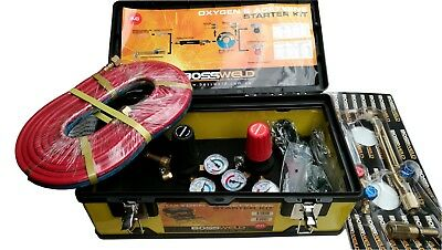 Bossweld / Dynaweld Acetelyne & Oxygen Starter Kit - Perfect For Weldling Etc