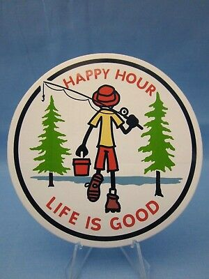 Happy Hour ***life Is Good*** Going Fishing Sticker / Decal  ~L@@k~