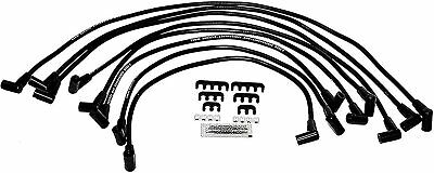 8.0mm Black Silicone Spark Plug Wires For SBC GMC Over the Valve Cover Wires