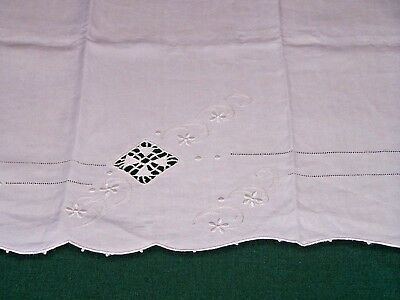 GORGEOUS VINTAGE ITALIAN LINEN SHOW TOWEL, NEEDLE LACE, FABULOUS DESIGN, c1920