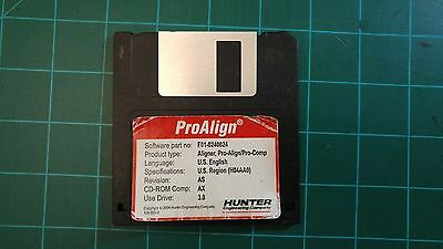 Hunter alignment machine software floppy disk (ProAlign)