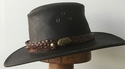 Genuine Crocodile Leather front  hat band Australian made class exotic hat extra