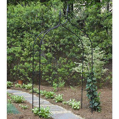 Gardman Gothic Arch 8-ft. Steel Arbor, Black