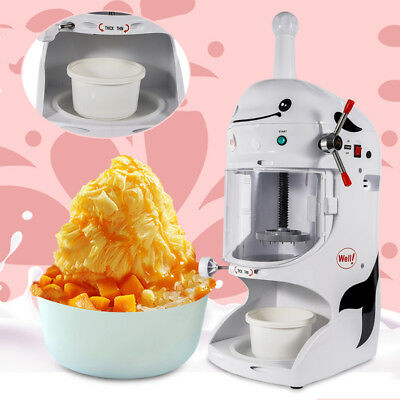 110V Commercial Electric Auto Shaved Ice Cream Shaving Machine Snow Ice Shaver