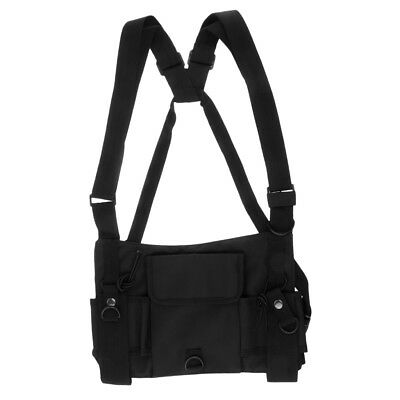 Radios Pocket Radio Chest Harness Chest Front Pack Pouch Holster Vest Rig
