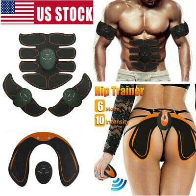 Pro Abdominal Muscle Toner Toning Belt EMS Ultimate Simulator AB Arms Gel Pads