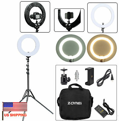 "US 14"" LED 5500K Ring Light For Camera Vlog Video Tripod Photo Photography"