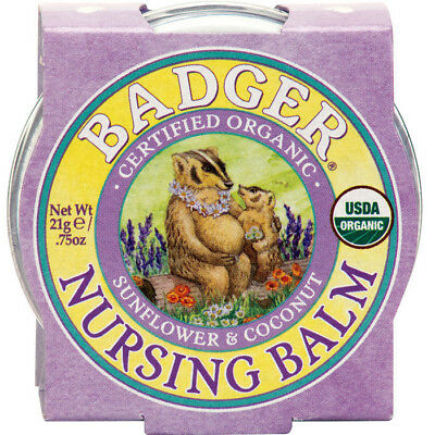 Badger Balm Nursing Balm Natural Pregnancy Breastfeeding Cream Organic 21 g