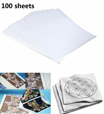 100 Sheets A4 Sublimation Heat Transfer Paper for Polyester Cotton T- Shirt USA