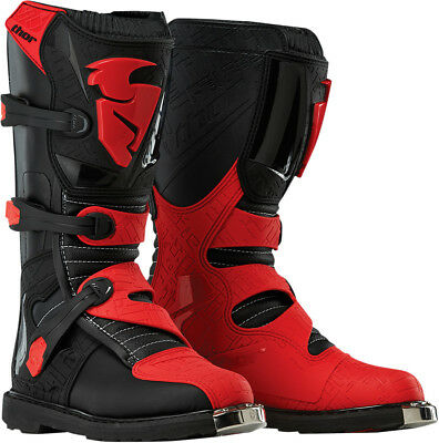Thor NEW 2017 Youth Mx Blitz Dirt Bike Black Red Kids Motocross Boots