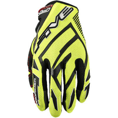 Five NEW Mx MXF ProRider S Fluro Yellow Motocross Dirt Bike MTB BMX Gloves