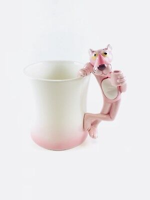 Vtg Pink Panther Collection Coffee Cup Mug Royal Orleans 1981 Cat Handle