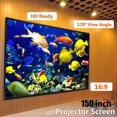 150inch 16:9 Electric Motorized HD 3D Projector Screen Projection Home Theater A