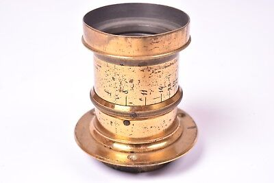 Vintage lens brass f/8. Approximate focal length 350mm. Very good condition