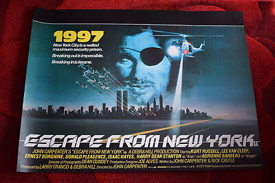 Escape From New York Poster.Escape From New York Quad Reprint Poster 30 40 Inches 14 50