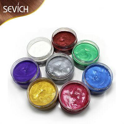 8 Colors Unisex DIY Wax Mud Dye Cream One-time Temporary Modeling Hair Color