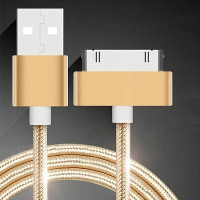 Braided 30pin USB Data Sync Charging Cable for iPhone 4 4s iPad 2 3 4 iPod 1.5m