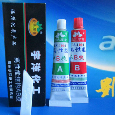 719F A+B Resin Adhesive Glue with Stick Spatula For Super Bond Metal Plastic Woo