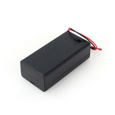2Pcs  9V Battery Holder with ON//OFF Switch 9 volt Box Pack Power Toggle */_