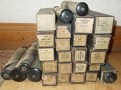 JOB LOT Of 27 VINTAGE PIANOLA ROLLS. Mixed