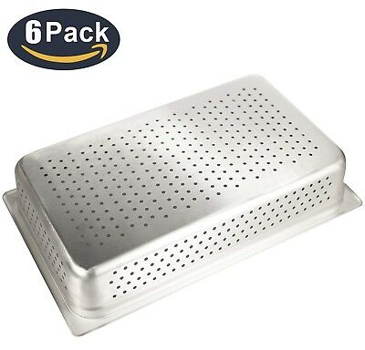"""4"""" Deep Perforated Steam Table Pan Full Size,Kitma 14 Quart Stainless Steel"""