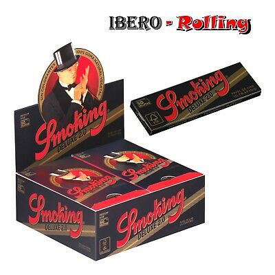 Papel de fumar Smoking Deluxe 2.0 1 1/4, 50 libritos papel de liar smoking 78mm