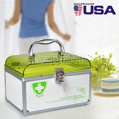 6 Layers Health Pill Medicine Chest First Aid Kit Case Storage Box Container US