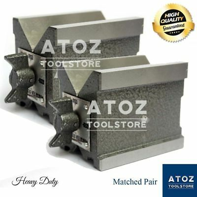 Precision Magnetic Vee Blocks Size 85x70x60mm V Block Matched Pair Heavy Atoz