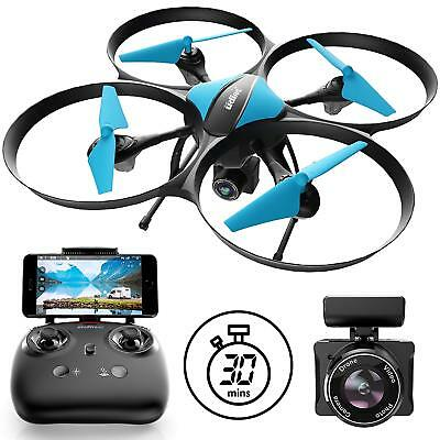 U49W RC Drone with HD Camera Live Video Hold Headless Mode.Long Flight Time