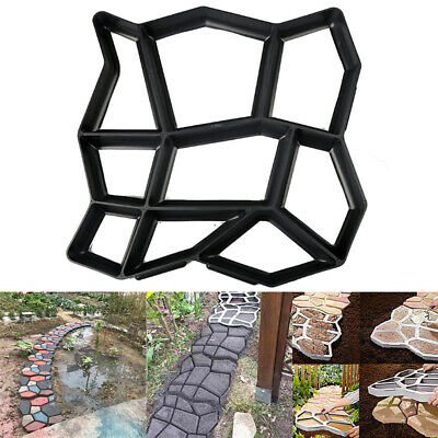 Garden Paving Pavement Irregular Mold Patio Concrete Stone Path Walk Maker Mould