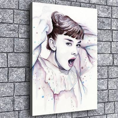 Audrey Hepburn HD Canvas Prints Painting Home Room Decor Picture Wall Art Poster