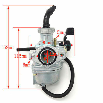 22mm Lever Choke Carby Carburetor 110cc 125cc PIT Quad Dirt Bike ATV Buggy