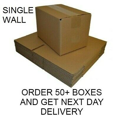 SINGLE WALL POSTAL MAILING CARDBOARD BOXES ROYAL MAIL small SIZES 16x13x4""