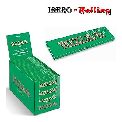 Papel de fumar Rizla Green corto, 100 libritos papel de liar de 70mm