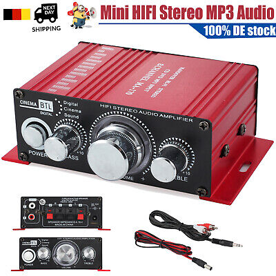 Mini Sound Verstärker HIFI Stereo Amplifier Radio Receiver Endstufe MP3 Audio DE