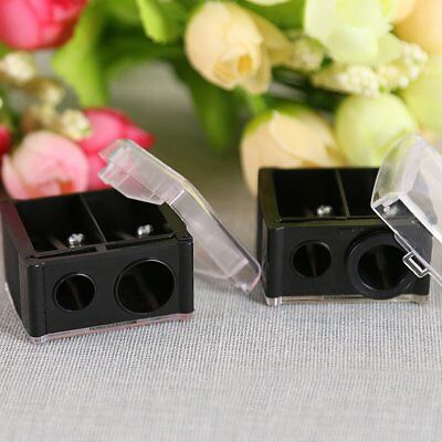 Durable Precision Cosmetic Pencil Sharpener for Eyebrow Eyeliner 2 Holes