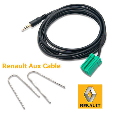 3.5MM Aux-in Adapteur Câble iPhone iPod MP3 Renault Clio Megane Laguna Scenic