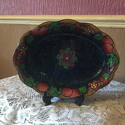 Stunning Antique Art Deco Losol Ware Keeling & Co Suntrae Pattern Dish