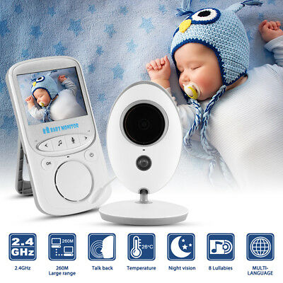 "2.4"" LCD Digital Baby Monitor Wireless Video Security Camera Night Vision HS877"