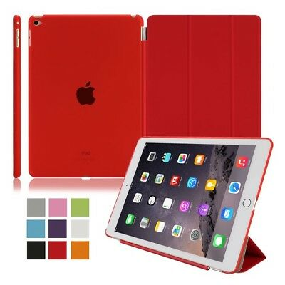 Apple iPad Air 2 Tablet Tasche Schutz Hülle Smart Back Case Etui Cover Rot