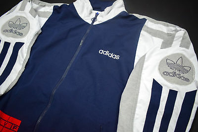 ADIDAS TRAININGS JACKE Sport Jacket Track Top Vintage Casual Design 90s 90er 6 M
