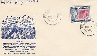 P 1039 Pitcairn Island November 1958 First Day Cover