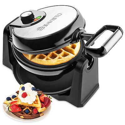Savisto Electric 180° Rotary Waffle Maker Machine | Non Stick 4 Belgian Waffles